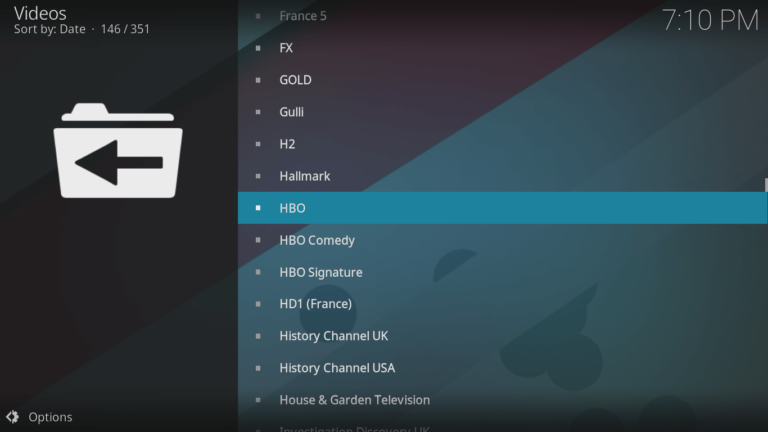 HBO on Kodi 7
