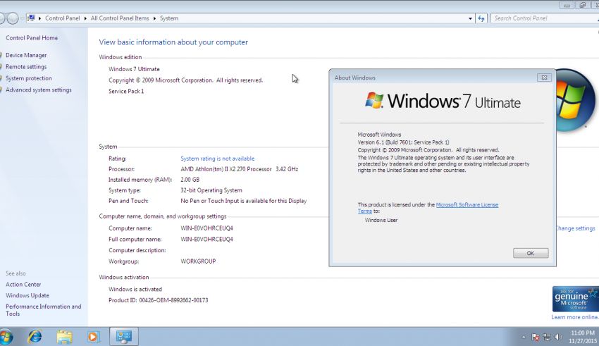 this copy of windows is not genuine build 7601 slmgr
