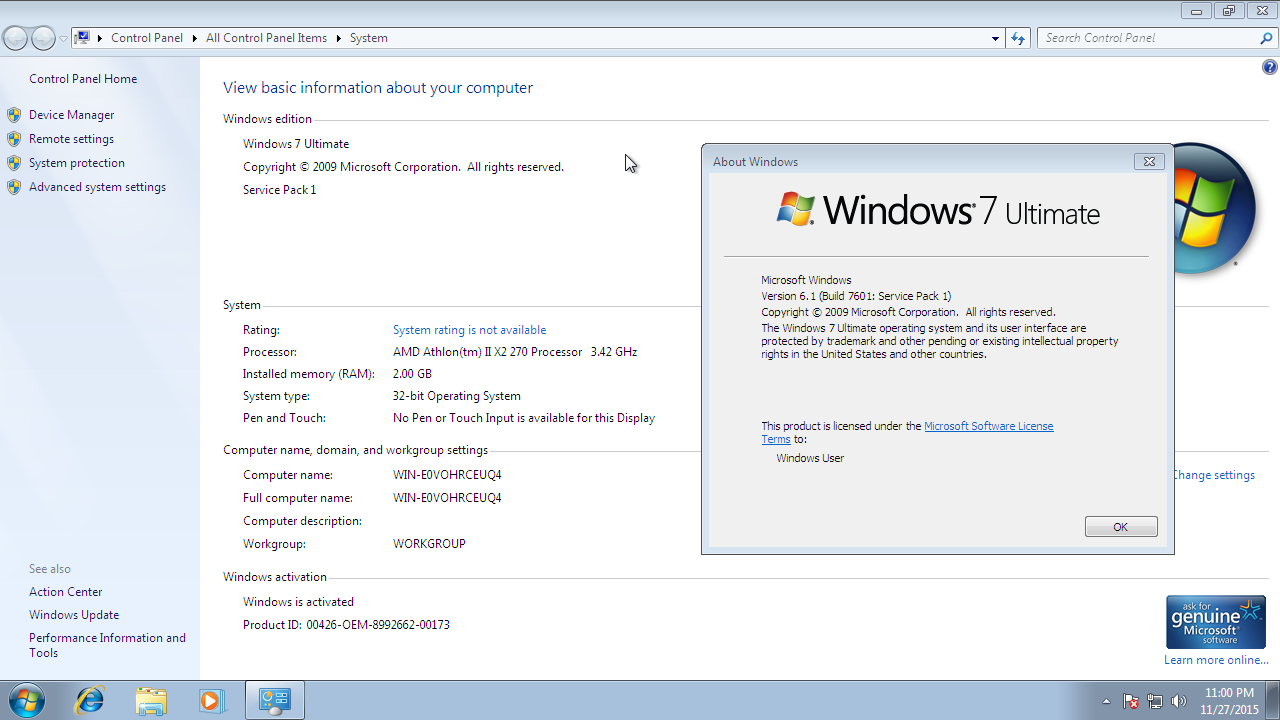product key win 7 build 7601