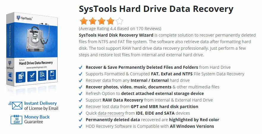 hard drive recovery software features