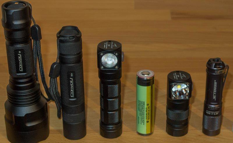 smallest 18650 flashlight
