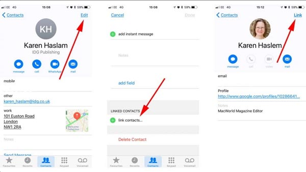 Merge Duplicate Contacts on Your iPhone