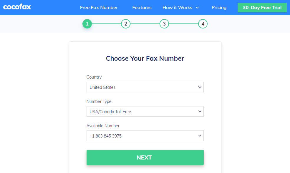 How to send fax using CocoFax from Windows 10-3